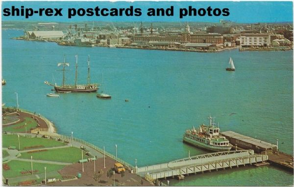 SOUTHSEA QUEEN (Gosport Ferry Co) on Portsmouth postcard